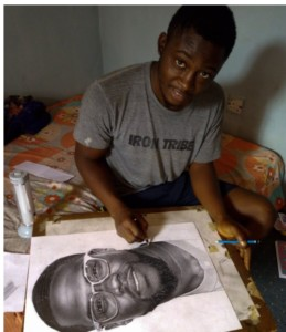 Photos: Kevin Hart Reaches Out To Nigerian Boy Who Did A Drawing of Him