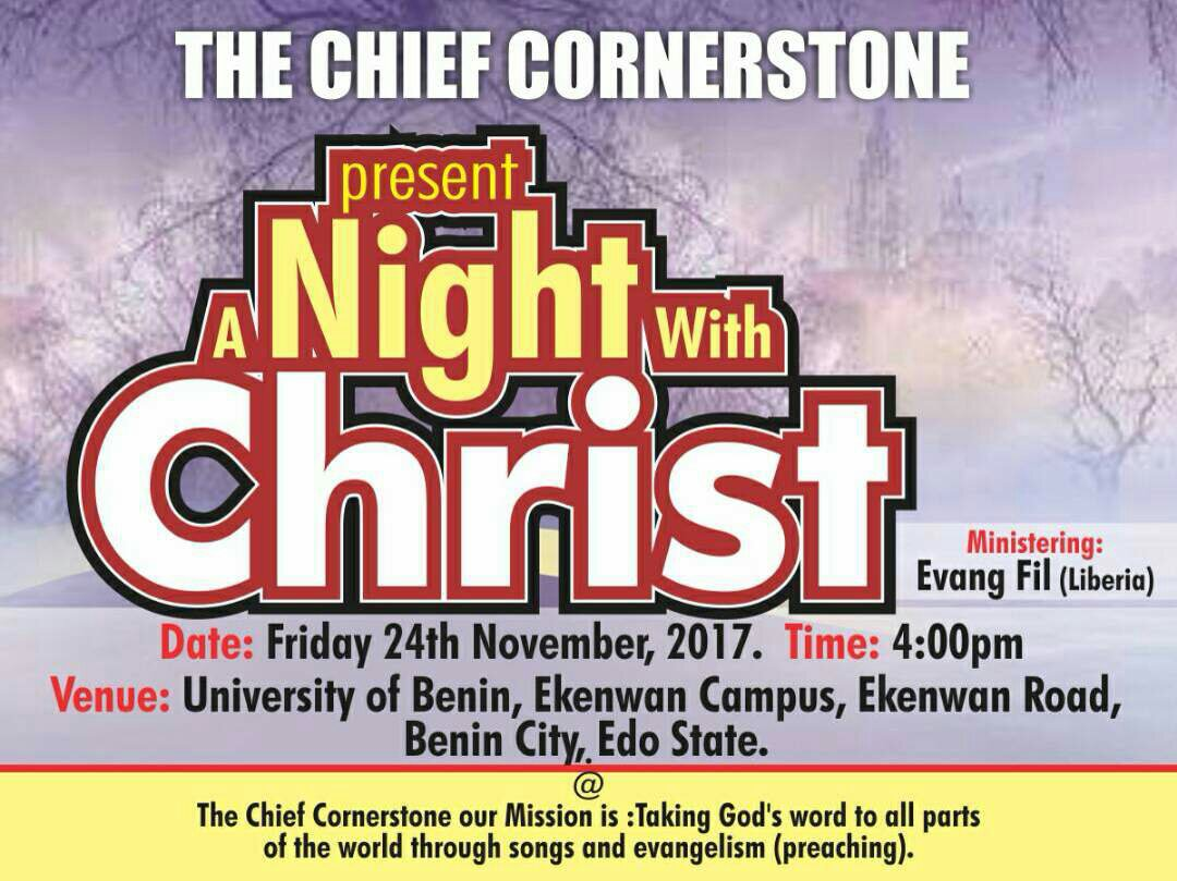 A Night With Christ By The Chief Cornerstone