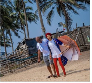Di'Ja Says She Shares Rare Photos of Herself With Her Husband As They Enjoy A Stroll At The Beach