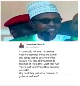 Ayo Fayose Mocks President Buhari For Saying He Assumed Office in 2005 Instead of 2015 [Video]